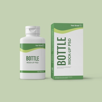 Drug bottle mockup