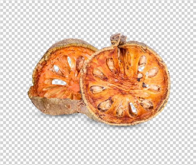 乾燥バエルフルーツ-乾燥バエルフルーツのスライスが分離されたプレミアムpsd