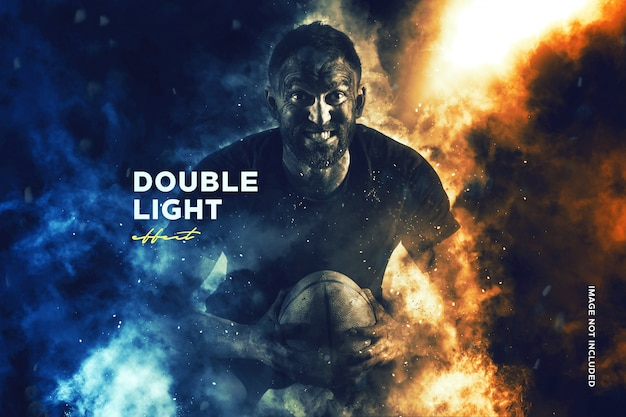 Dual light photography effect