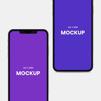 Dual screen smartphone mockup