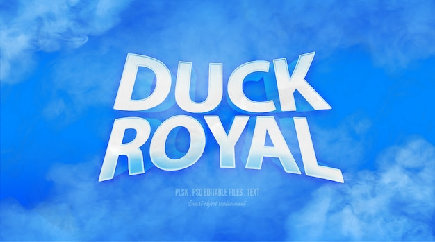 Duck royal 3d text style effect