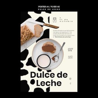 Dulce de leche concept flyer template