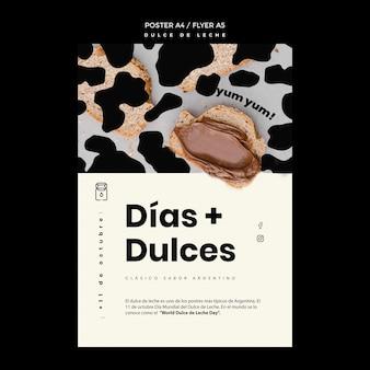 Dulce de leche 컨셉 포스터 템플릿