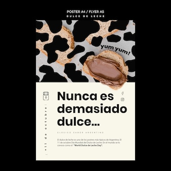 Dulce de leche concept poster template