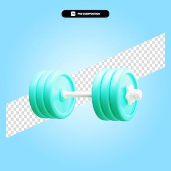 Гантели 3d визуализации изолированных иллюстрация