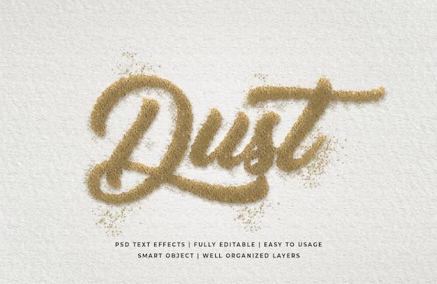 Dust 3d эффект стиля текста