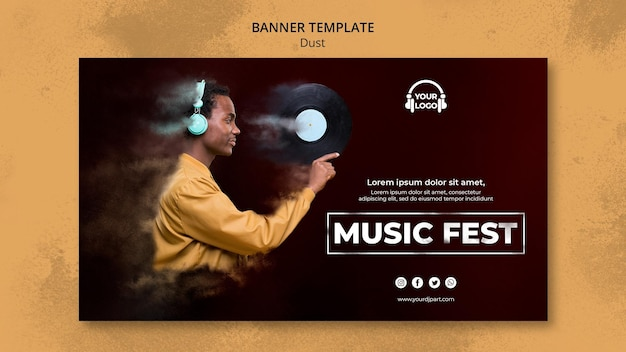 Dust concept banner template