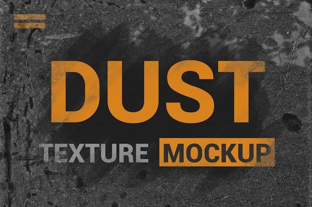 Dust effect mockup