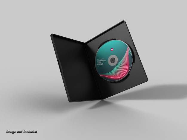 Dvd case and disc mockup