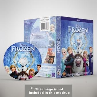 Dvdには、デザインのモックアップ