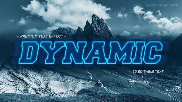 Шаблон макета динамического 3d текстового эффекта