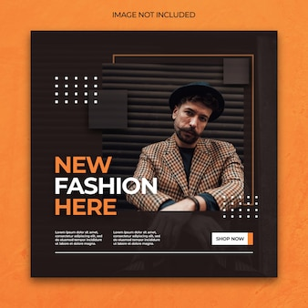 Dynamic elegant social media instagram banner or square flyer post template