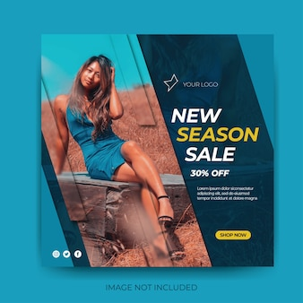 동적 패션 판매 소셜 미디어 게시물 피드 템플릿