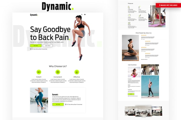 Dynamic fitness webページ