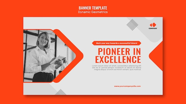 Dynamic geometric banner template