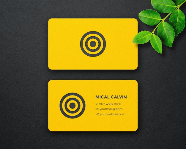 Dynamic and luxury business card mockup