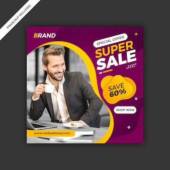 Dynamic modern social media instagram post sale banner