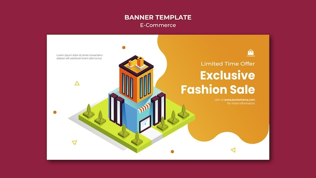 Modello di banner di e-commerce