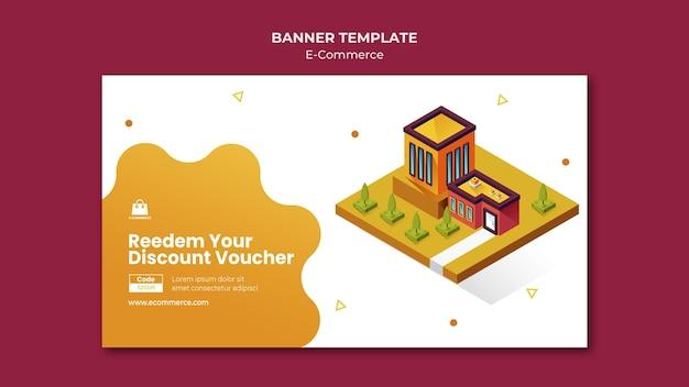 Modello di banner orizzontale di e-commerce