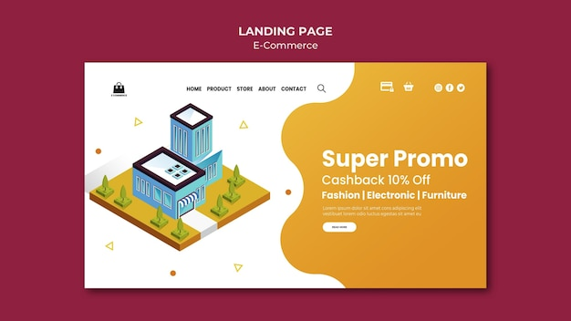 E-commerce  landing page template