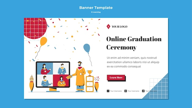 E-learning banner template design