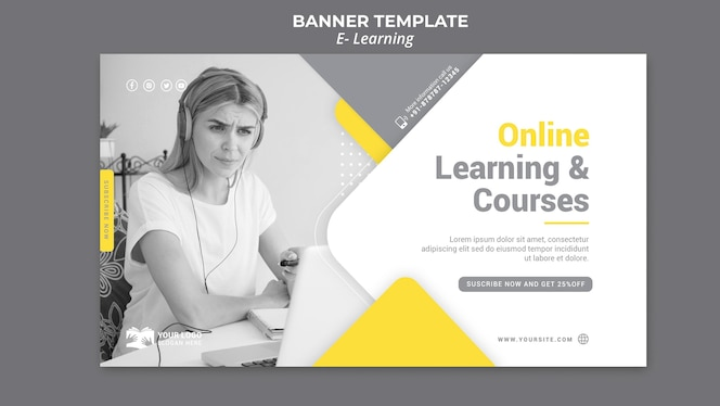 E learning banner template