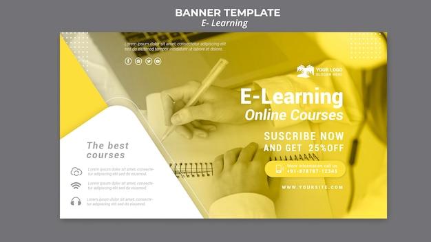 Электронный обучающий баннер шаблон