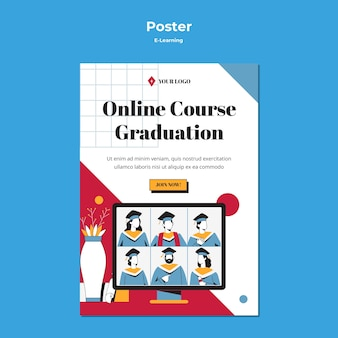 E-learning concept online graduation
