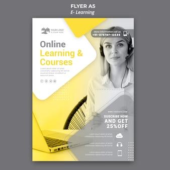 Modello di volantino di apprendimento elettronico