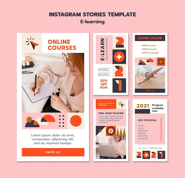 Storie di instagram e-learning