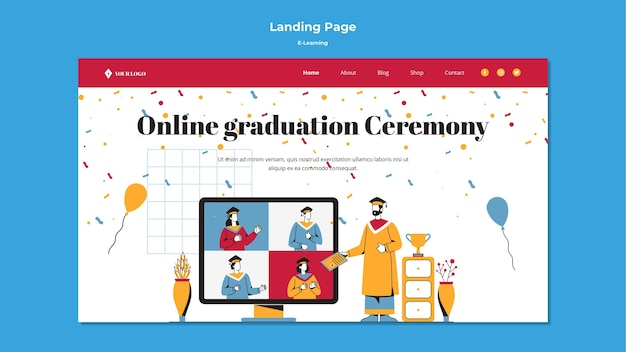 E-learning landing page design