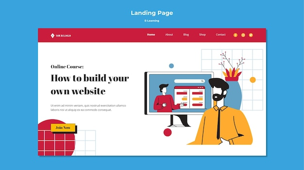 E-learning landing page style