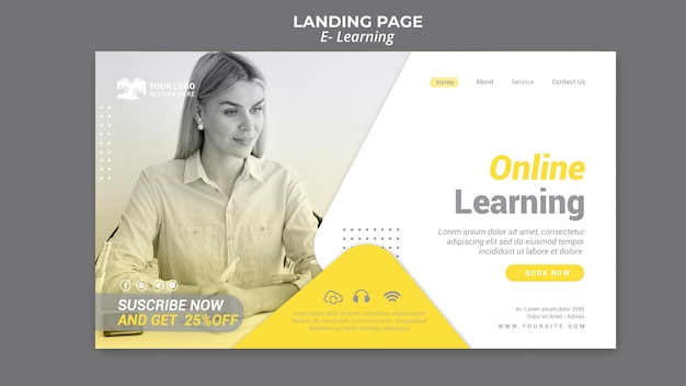 E learning landing page