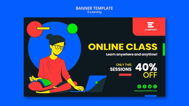 E-learning platform banner template