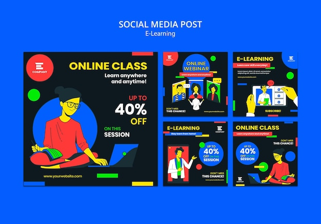 E-learning platform social media post