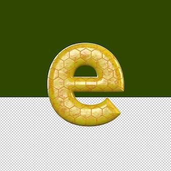 E 문자 텍스트 효과 오일
