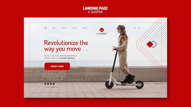 E scooter landing page