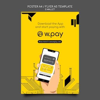 Modello di poster per portafoglio elettronico
