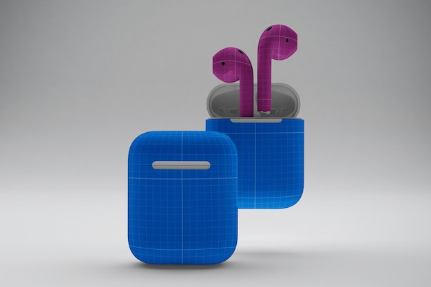 Earphone cases mockup