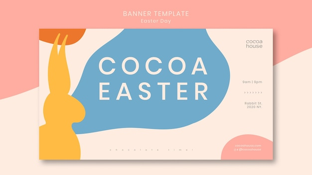 Easter banner template with bunny