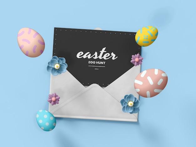 Easter card mockup