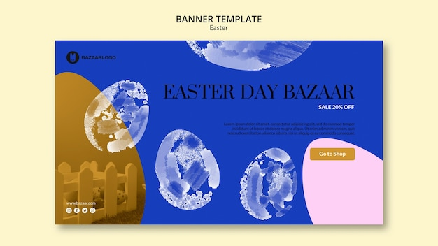 Easter concept banner template