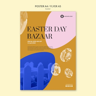Easter concept flyer template