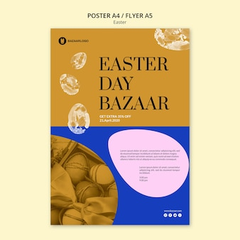 Easter concept poster template