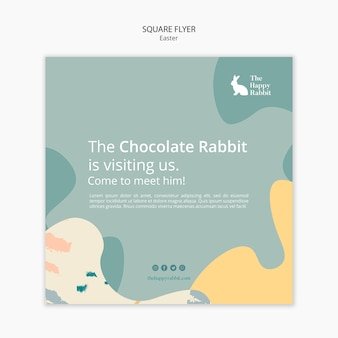 Easter day event with square flyer