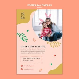 Easter day festival flyer