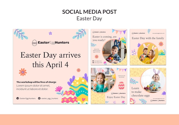 Easter day instagram posts with photo