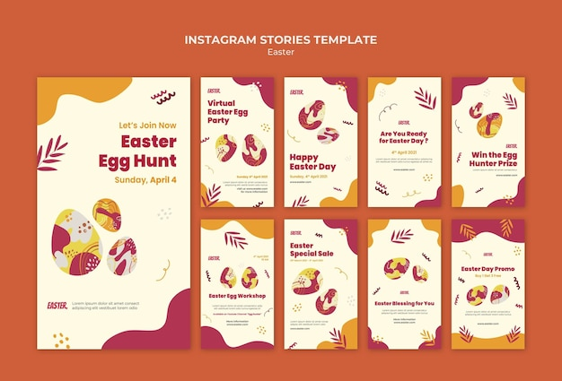 Easter day instagram stories set