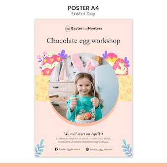 Easter day poster with photo