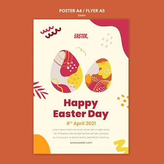 Easter day print template Free Psd